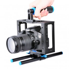 Lightdow Rig Stabilizer Kamera DSLR 15mm Rod - Black