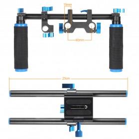 Stabilizer Kamera Shoulder Support Rig Double Handgrip - D4 - Black - 3