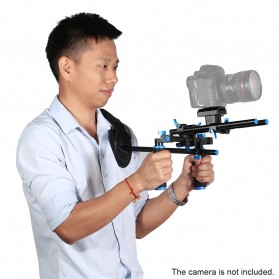 Stabilizer Kamera Shoulder Support Rig Double Handgrip - D4 - Black - 6