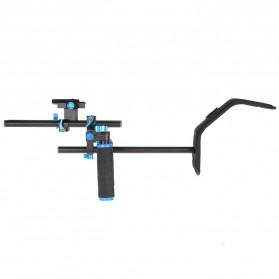 Stabilizer Kamera Shoulder Support Rig Double Handgrip - D4 - Black - 7