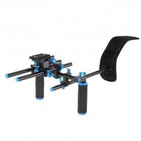 Stabilizer Kamera Shoulder Support Rig Double Handgrip - D4 - Black - 8