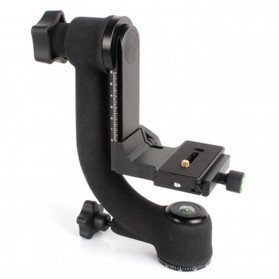 Professional Gimbal Tripod Head For Heavy Telephoto Lens - Black