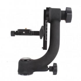 Professional Gimbal Tripod Head For Heavy Telephoto Lens - Black - 2