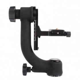 Professional Gimbal Tripod Head For Heavy Telephoto Lens - Black - 6