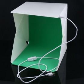 Photo Studio Mini 1 Button dengan LED dan 4 PCS Background Size M - White - 2