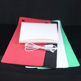 Photo Studio Mini 1 Button dengan LED dan 4 PCS Background Size M - White - 8
