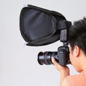 PULUZ Universal Softbox Flash Diffuser Camera DSLR - Black - 3