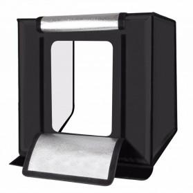 PULUZ Photo Studio Mini Portable dengan LED dan 3PCS Background Size M - Black