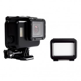 Vamson Touchscreen Waterproof Case 60m for GoPro Hero 5/6/7 - Black