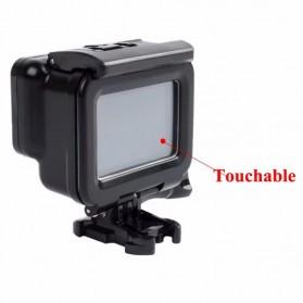 Vamson Touchscreen Waterproof Case 60m for GoPro Hero 5/6/7 - Black - 3