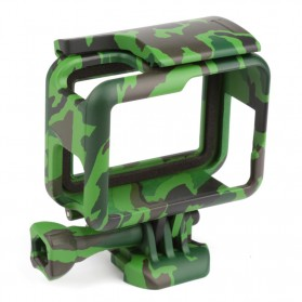 Camouflage Protective Side Border Frame Case Bumper for GoPro Hero 5/6 - Green
