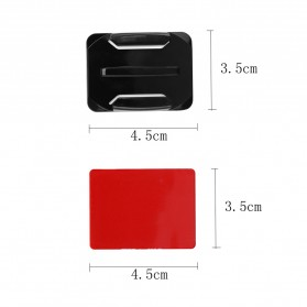 JMFOTO Sticker 3M Curved Flat Mount 8 PCS GoPro & Xiaomi Yi - 1031 - Black - 10