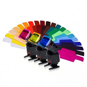 Photography Color Filter Card 20 Color for DSLR Flash - Mix Color