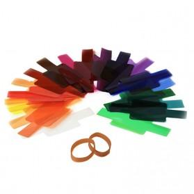 Photography Color Filter Card 20 Color for DSLR Flash - Mix Color - 2