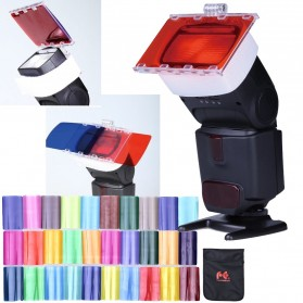 FalconEyes Photography Color Filter Card 30 Color for DSLR Flash - CFA-30K - Mix Color