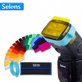 Selens Photography Color Filter Card 20 Color for DSLR Flash - SE-CG20 - Mix Color