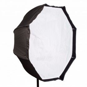 Payung Octagon Softbox Reflektor untuk Flash Speedlight 120CM - LD-TZ207 - Black/Silver