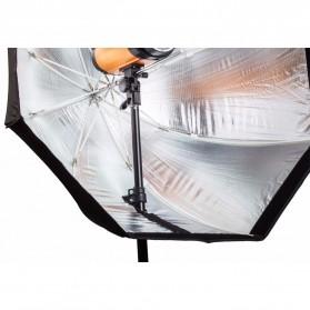 Payung Octagon Softbox Reflektor untuk Flash Speedlight 120CM - LD-TZ207 - Black/Silver - 4