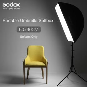 Godox Payung Softbox Reflektor 60x90cm untuk Flash Speedlight - Black