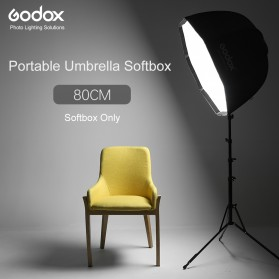 Godox Payung Softbox Reflektor Octagon 80cm untuk Flash Speedlight - Black