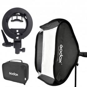 Godox S-Type Softbox Flash Diffuser Camera DSLR 50 X 50 CM (OEM) - Black