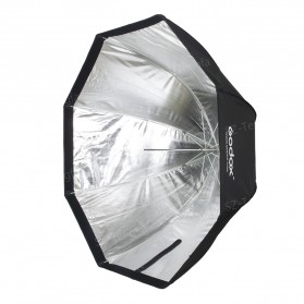 Godox Payung Octagonal Softbox Reflektor Flash 95 CM (OEM) - Black