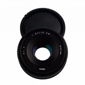 Lensa Kamera MF Manual Fixed Focus 35mm f1.7 for Sony NEX-3 Alpha A5000 A6000 - Black - 2