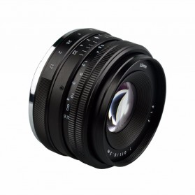 Lensa Kamera MF Manual Fixed Focus 35mm f1.7 for Sony NEX-3 Alpha A5000 A6000 - Black - 4