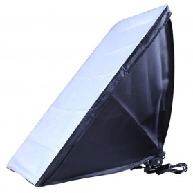 TaffSTUDIO Payung Softbox Reflektor 50x70cm E27 Single Lamp Socket - CL-RT50 - Black