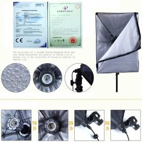 TaffSTUDIO Payung Softbox Reflektor 50x70cm E27 Single Lamp Socket - CL-RT50 - Black - 2