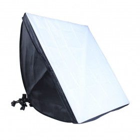 TaffSTUDIO Payung Softbox Reflektor 50x70cm E27 Single Lamp Socket - CL-RT50 - Black - 4