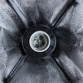 TaffSTUDIO Payung Softbox Reflektor 50x70cm E27 Single Lamp Socket - CL-RT50 - Black - 7