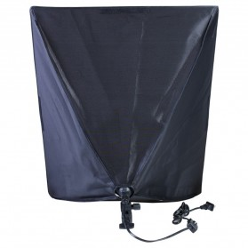 TaffSTUDIO Payung Softbox Reflektor 50x70cm E27 Single Lamp Socket - CL-RT50 - Black - 8