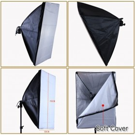 TaffSTUDIO Payung Softbox Reflektor 50x70cm E27 Single Lamp Socket - CL-RT50 - Black - 10
