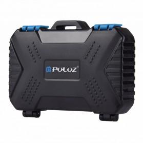 PULUZ Card Reader USB 3.0 and Memory Case Storage Box Waterproof - PU5004 - Black