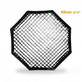 Octagonal Honeycomb Grid 95cm for Umbrella Softbox Reflector - Black