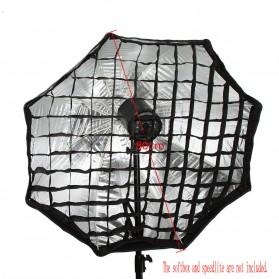 Octagonal Honeycomb Grid 80cm for Umbrella Softbox Reflector - BK-80 - Black - 4