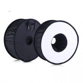 Universal Ring Softbox Flash Diffuser for Camera DSLR - A008 - Black - 3