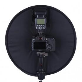 Universal Ring Softbox Flash Diffuser for Camera DSLR - A008 - Black - 6
