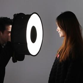 Universal Ring Softbox Flash Diffuser for Camera DSLR - A008 - Black - 7