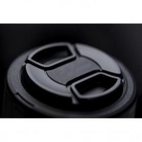EDMTON Penutup Lensa Kamera Nikon Lens Cap 77mm - LC-77 - Black - 5
