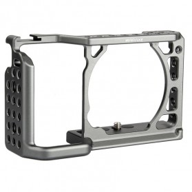 WARAXE A6 Cage Kit for Sony ILCE 6000/6300/6500 Camera - Black - 6