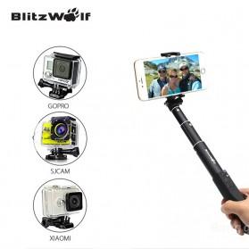 BlitzWolf Tongsis Bluetooth Monopod Shutter Smartphone - BW-BS1 - Sky Blue - 3