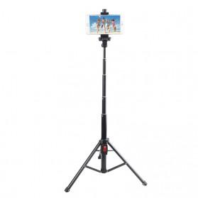 LetsPro Tongsis Monopod Tripod + Bluetooth Shutter - YK-3688 - Black - 7