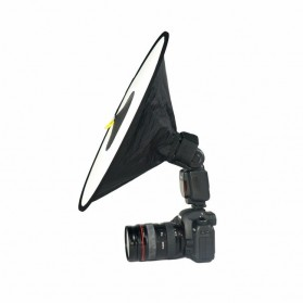 Ikacha Collapsible Ring Softbox Flash Diffuser 42cm for Speedlite Camera DSLR - EN4699 - Black - 2