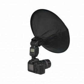 Ikacha Collapsible Ring Softbox Flash Diffuser 42cm for Speedlite Camera DSLR - EN4699 - Black - 3