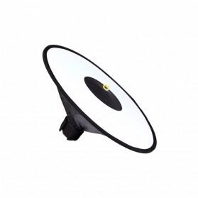 Ikacha Collapsible Ring Softbox Flash Diffuser 42cm for Speedlite Camera DSLR - EN4699 - Black - 5