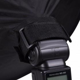 Ikacha Collapsible Ring Softbox Flash Diffuser 42cm for Speedlite Camera DSLR - EN4699 - Black - 6