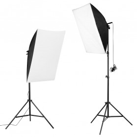 TaffSTUDIO Portrait Foto Studio Lighting Kit Youtube Vlog Unboxing - LD-TZ07A - Black