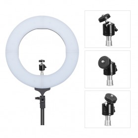 TaffSTUDIO Lampu Halo Ring Light LED Kamera DSLR Smartphone 65W 336 LED 12 Inch - RL480 - White - 4